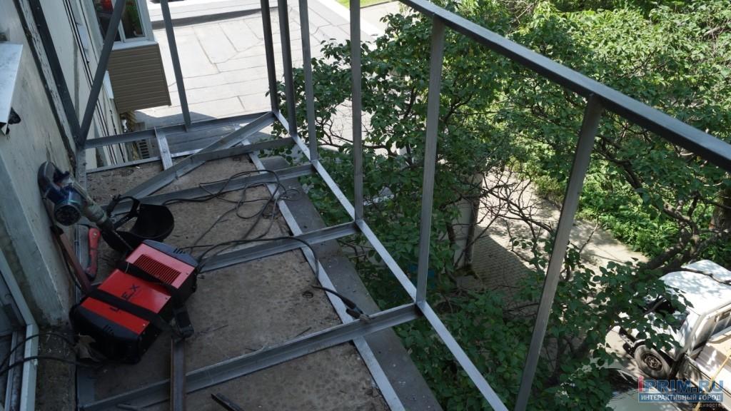 Расширение балкона на 2 этаже. - наши работы - каталог стате.